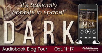 Audiobookworm Tour Banner for Dark
