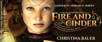 Goddess Fish tour banner for Fire and Cinder