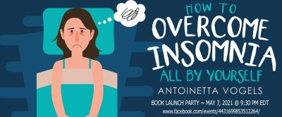 Goddess Fish banner for How to Overcome Insomnia All by Yourself Zoom launch party