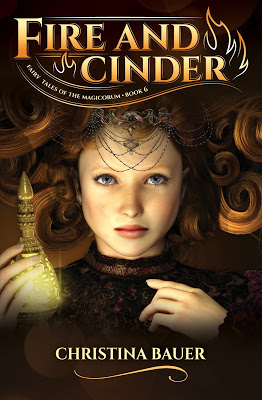 cover of Fire and Cinder by Christina Bauer