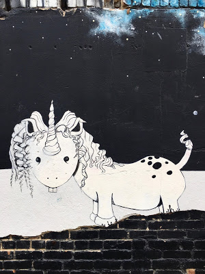 unicorn mural representing a book that doesn't need content warnings