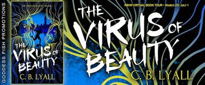 Goddess Fish tour banner for The Virus of Beauty