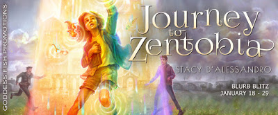 Goddess Fish tour banner for Journey to Zentobia