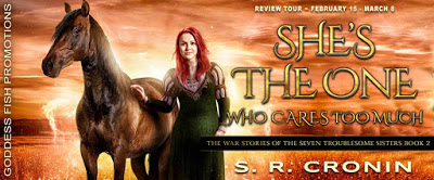 Goddess Fish tour banner for She's the One Who Cares Too Much